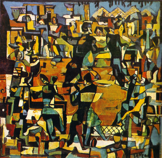 the definition of art movement Abstract expressionism definition is - an artistic movement of the mid-20th century  comprising diverse styles and techniques and emphasizing.